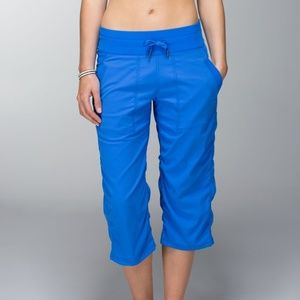 Lululemon Cropped Studio Yoga Pants Blue 8